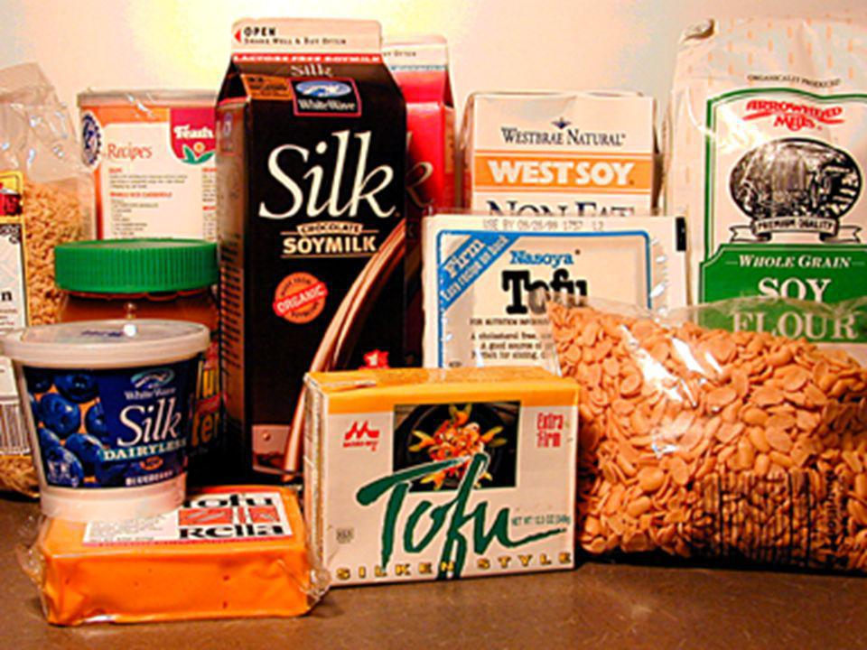 Here are examples of soy foods.