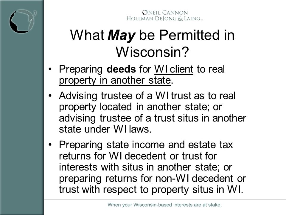 What May be Permitted in Wisconsin