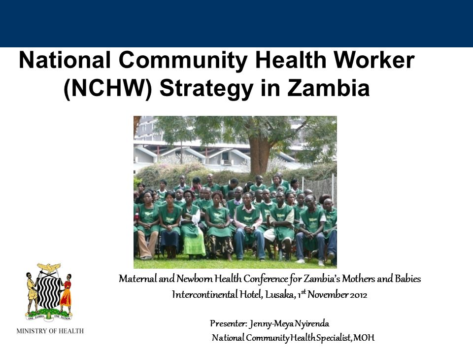 National Community Health Worker (NCHW) Strategy in Zambia