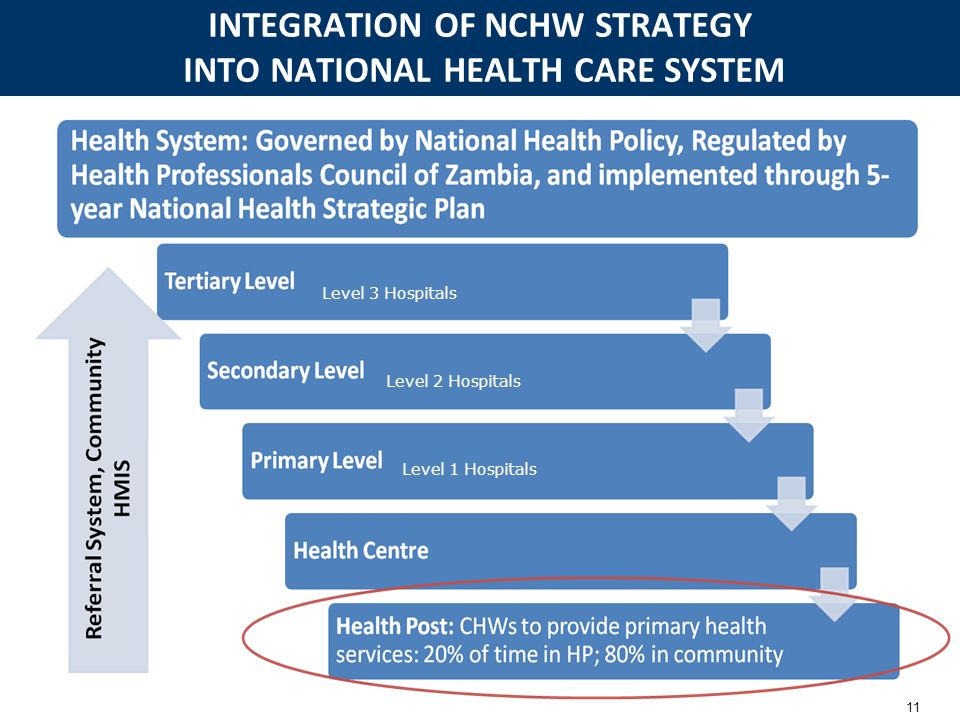 INTEGRATION OF NCHW STRATEGY INTO NATIONAL HEALTH CARE SYSTEM