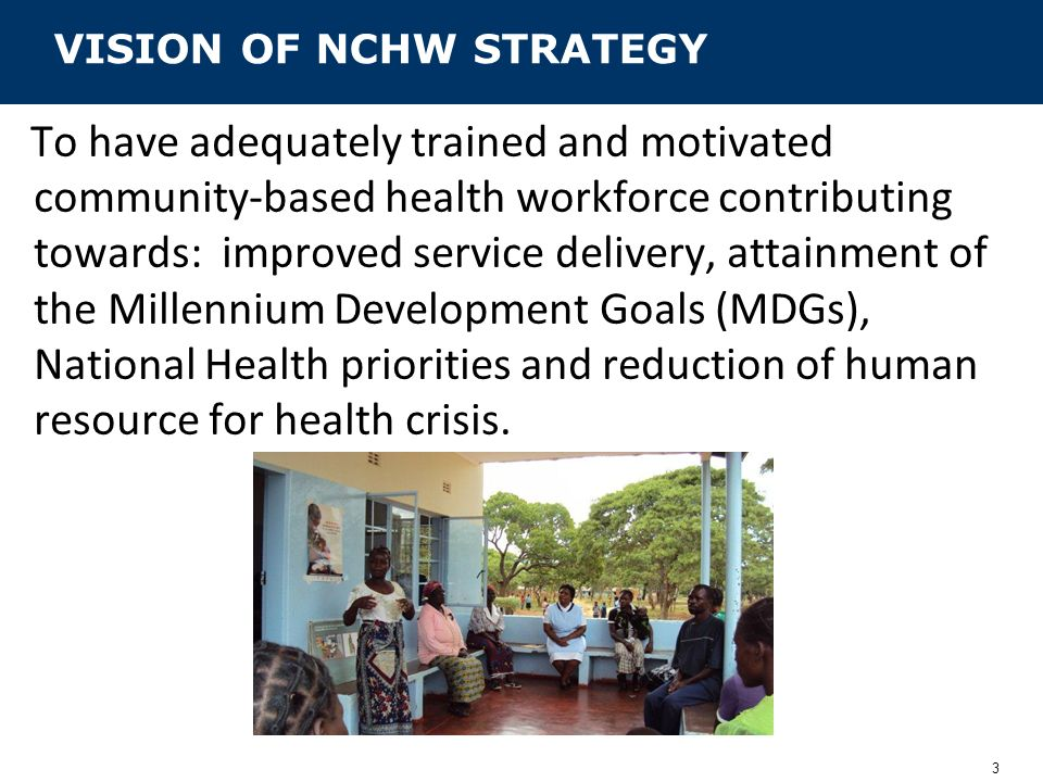 VISION OF NCHW STRATEGY