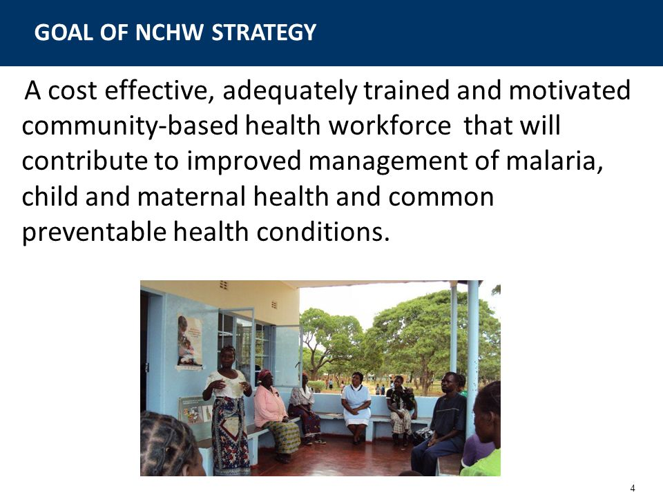 GOAL OF NCHW STRATEGY