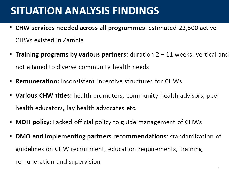 SITUATION ANALYSIS FINDINGS