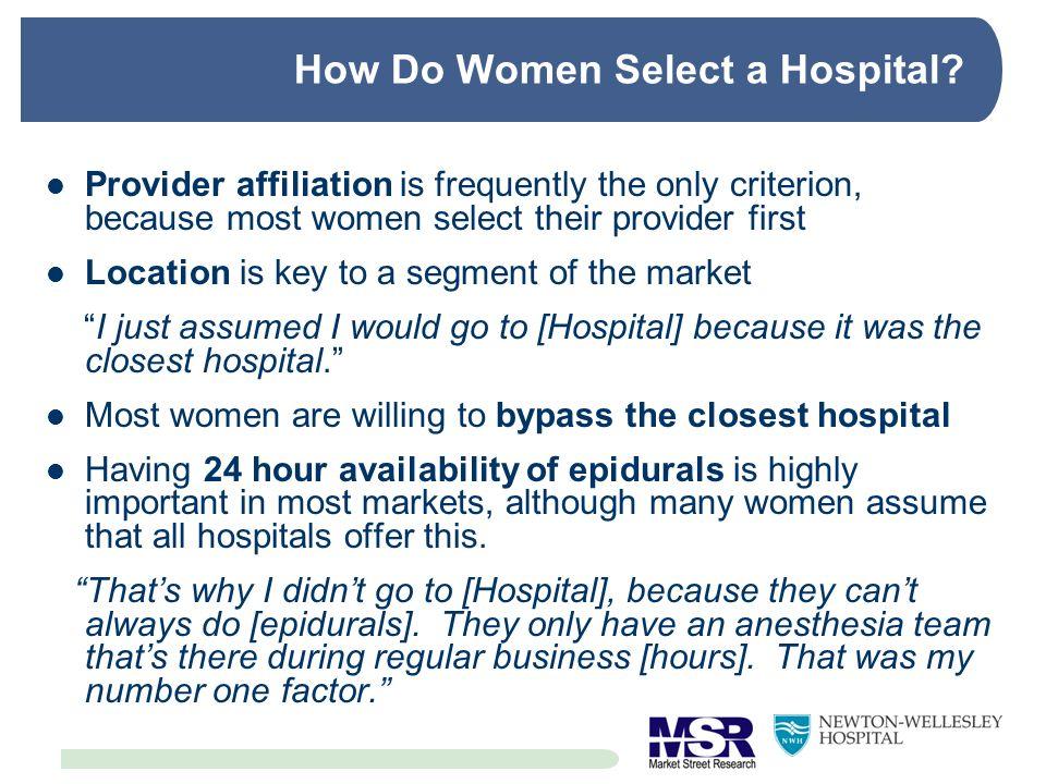How Do Women Select a Hospital