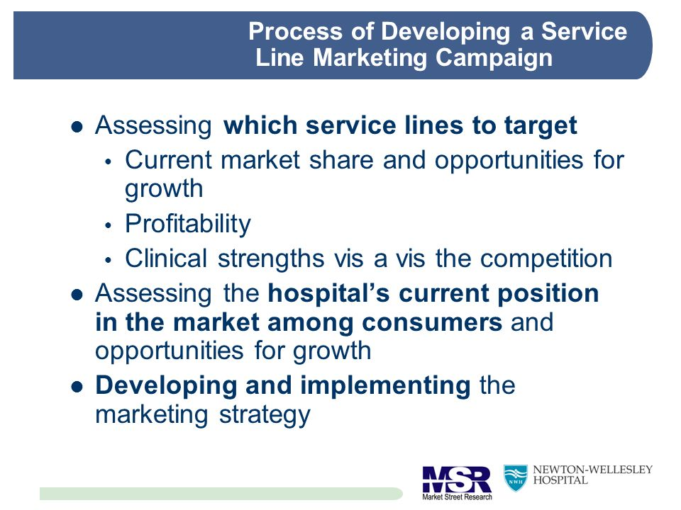 Process of Developing a Service Line Marketing Campaign