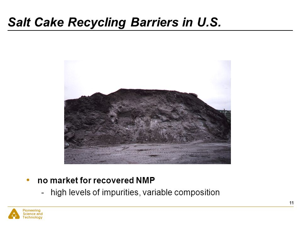 Salt Cake Recycling Barriers in U.S.