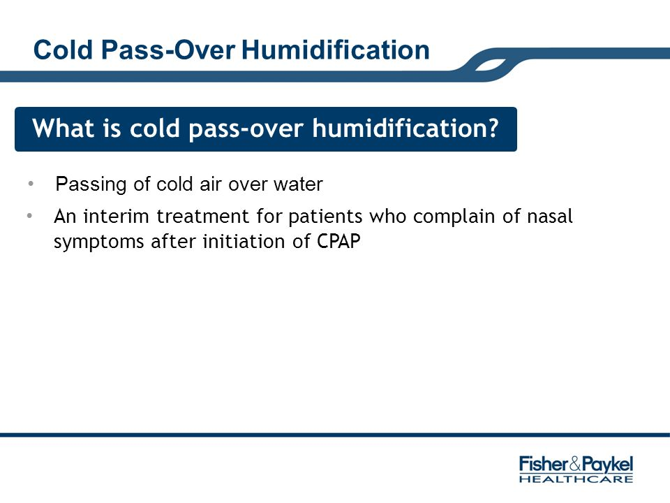 Cold Pass-Over Humidification