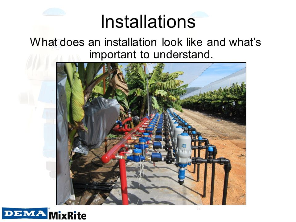 Installations What does an installation look like and what's important to understand.