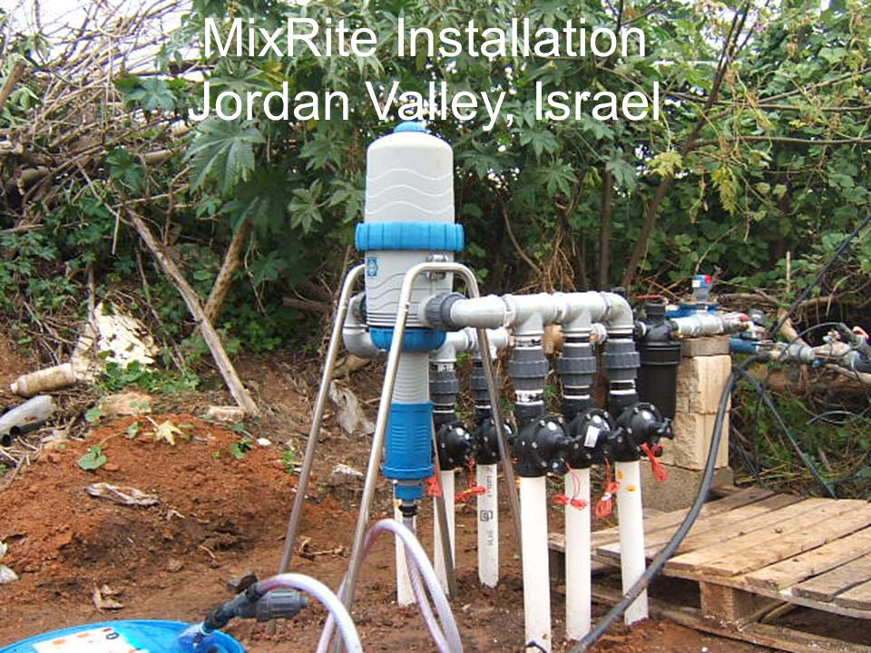 MixRite Installation Jordan Valley, Israel