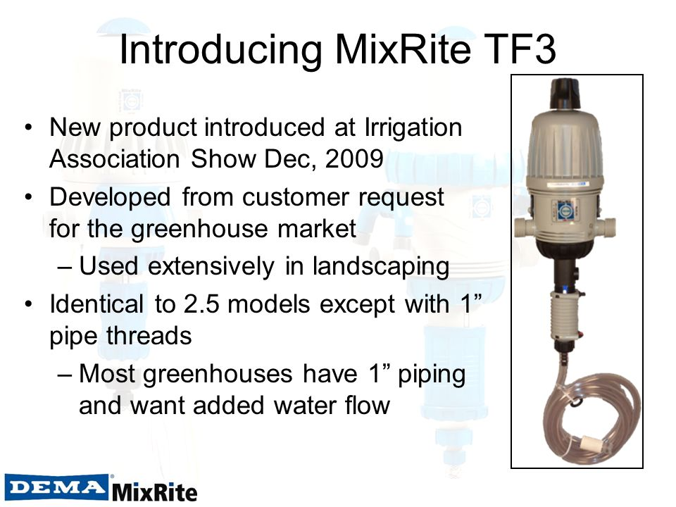 Introducing MixRite TF3