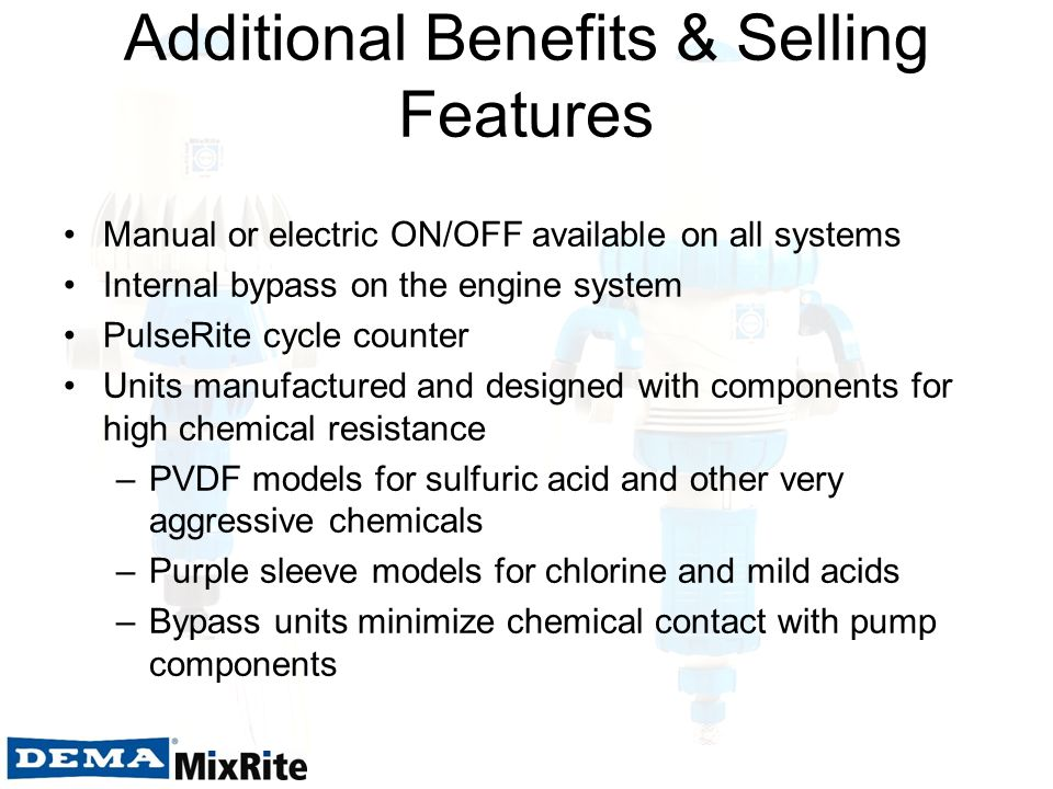 Additional Benefits & Selling Features