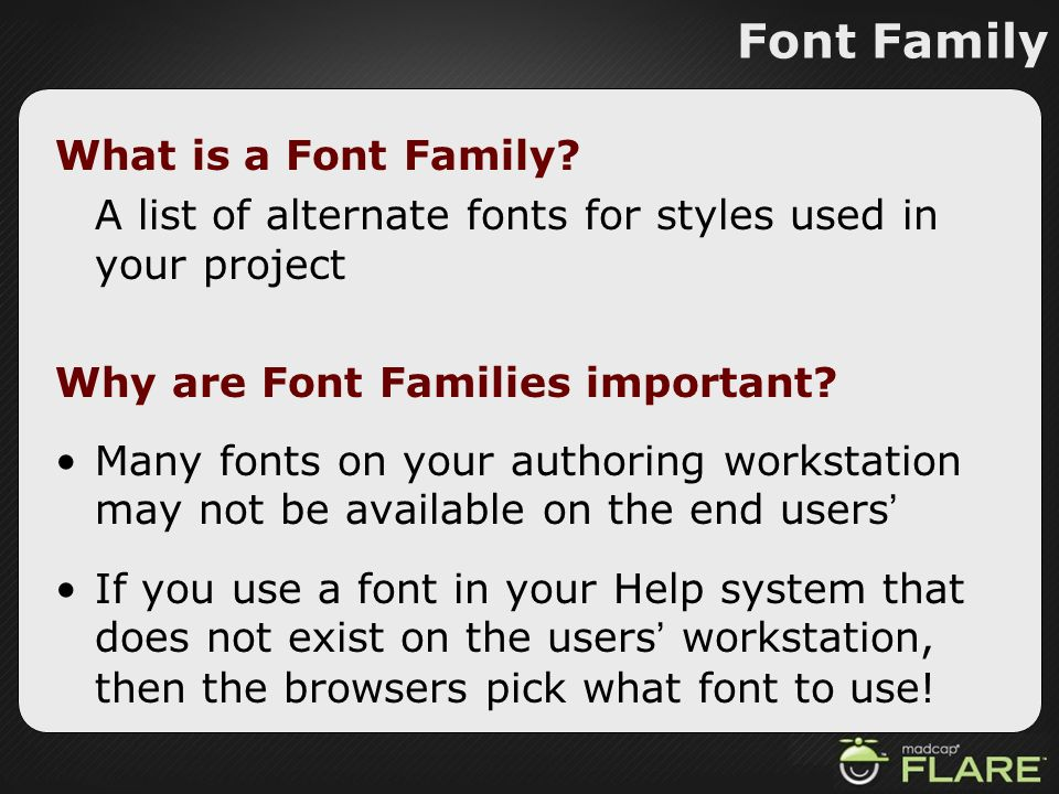 Font Family What is a Font Family