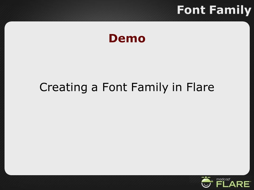 Creating a Font Family in Flare