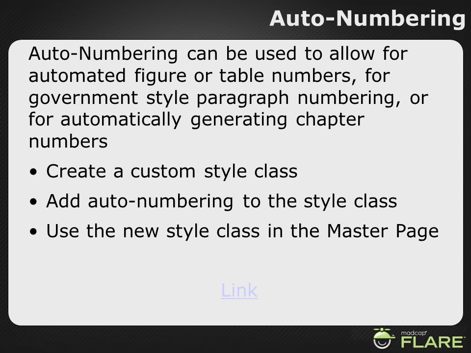 Auto-Numbering
