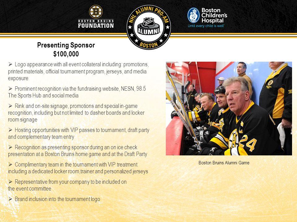Presenting Sponsor $100,000.