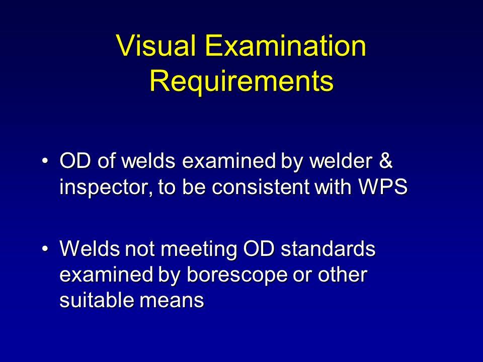 Visual Examination Requirements