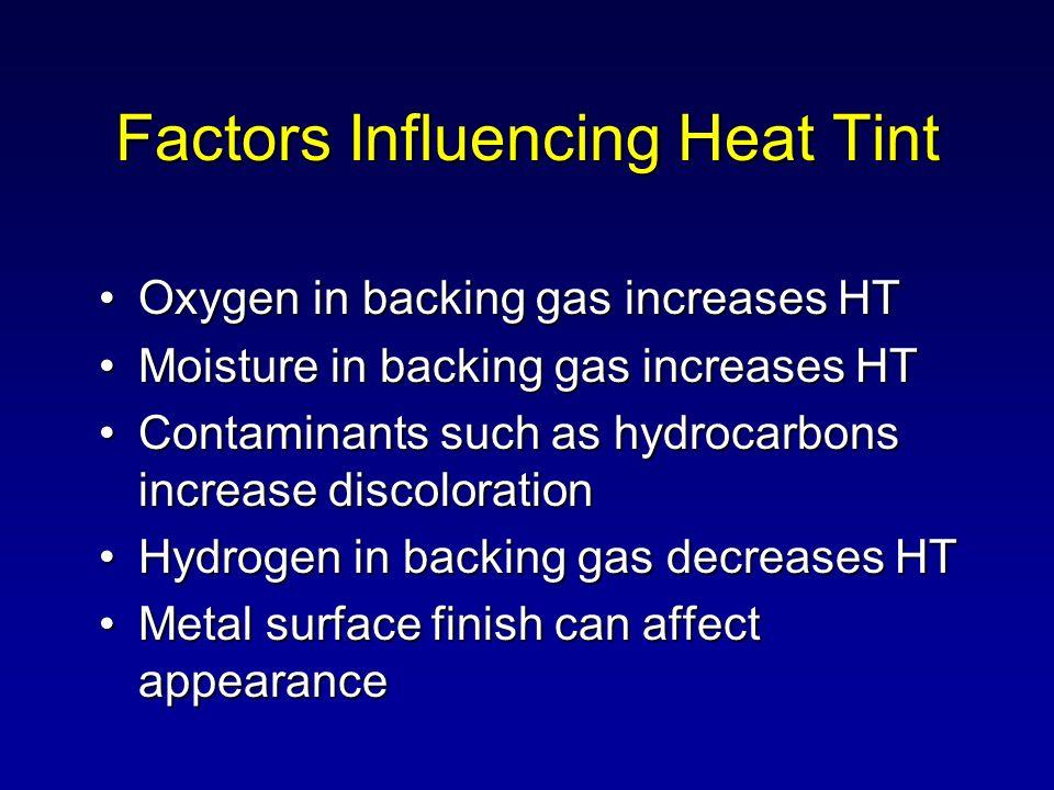 Factors Influencing Heat Tint