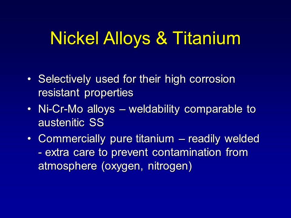 Nickel Alloys & Titanium