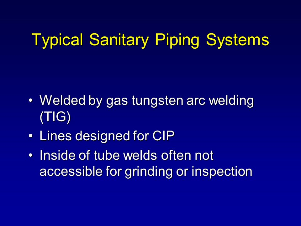 Typical Sanitary Piping Systems