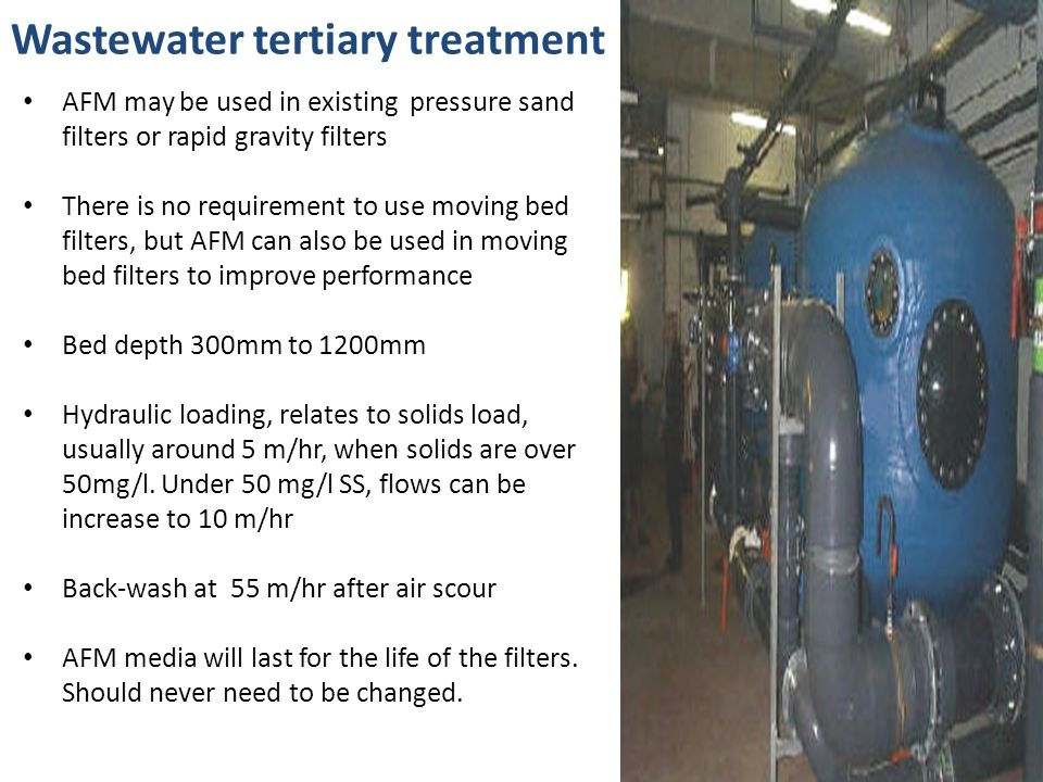 Wastewater tertiary treatment