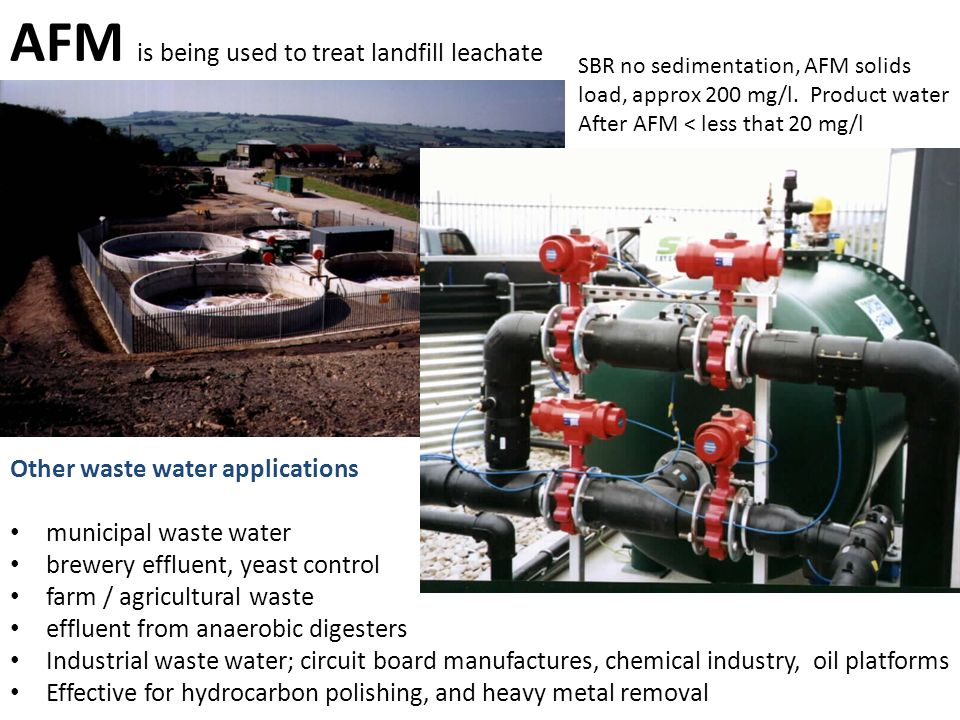 AFM is being used to treat landfill leachate