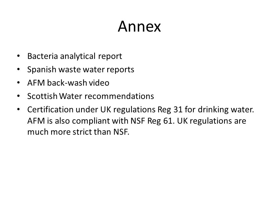 Annex Bacteria analytical report Spanish waste water reports