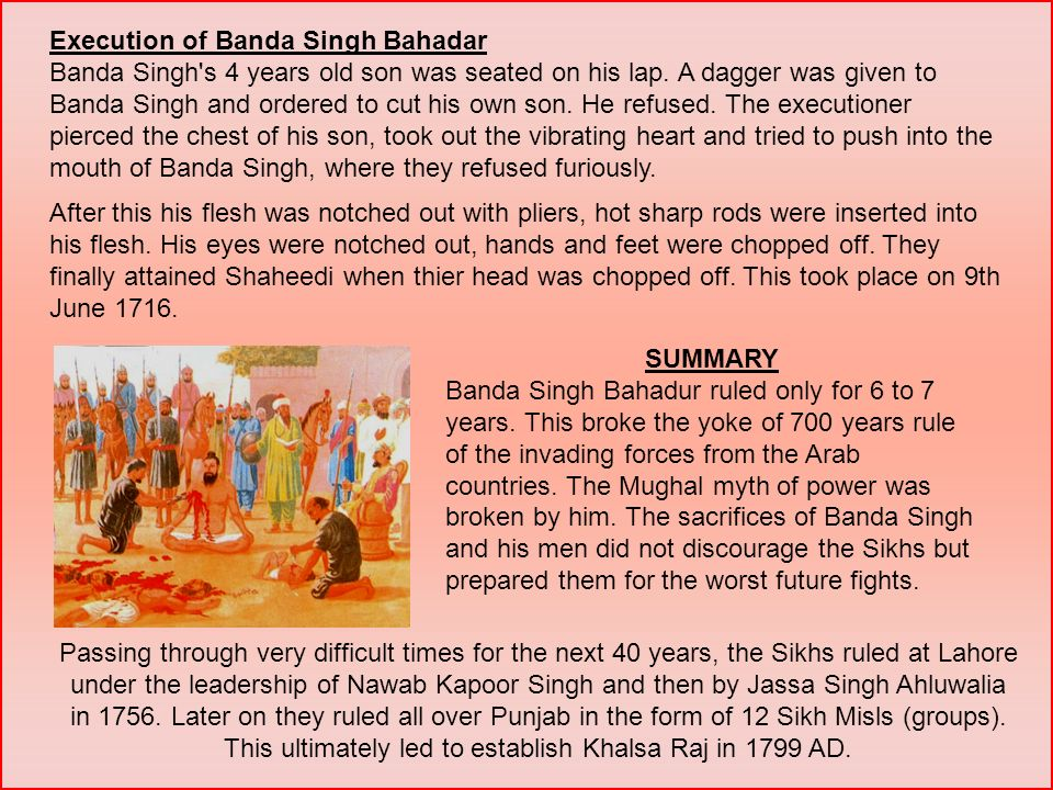 Execution of Banda Singh Bahadar