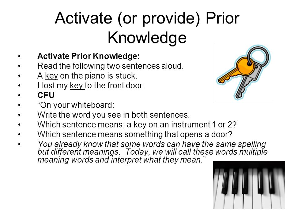 Activate (or provide) Prior Knowledge