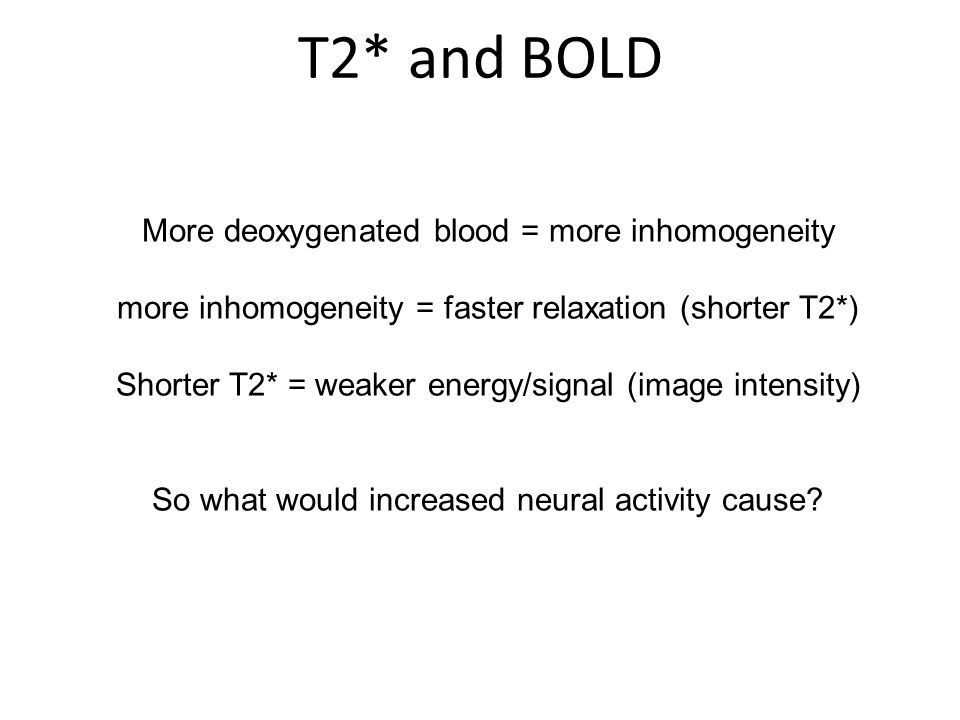 T2* and BOLD