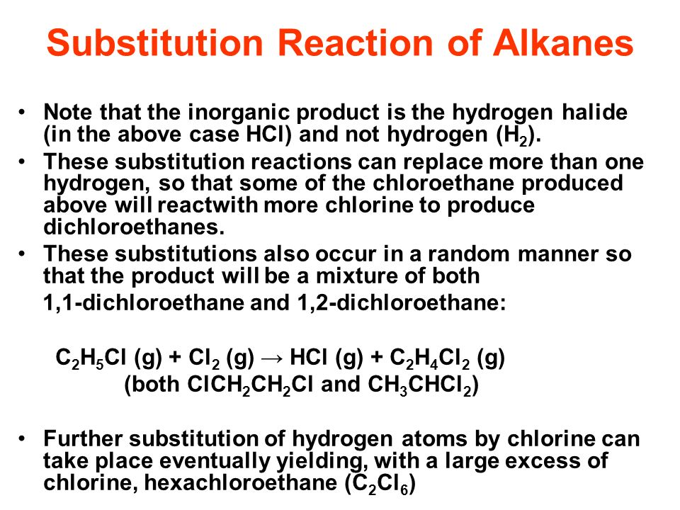 Substitution Reaction of Alkanes