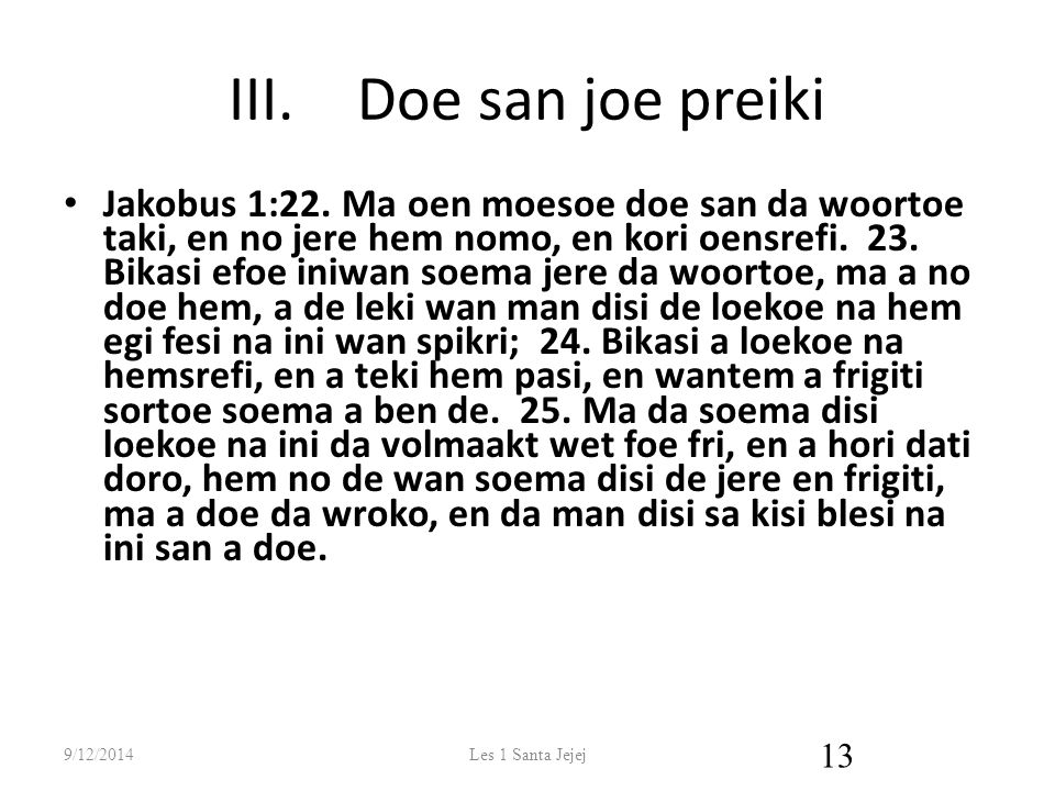 Doe san joe preiki