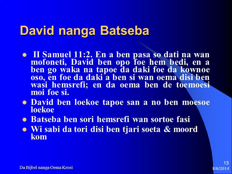 David nanga Batseba