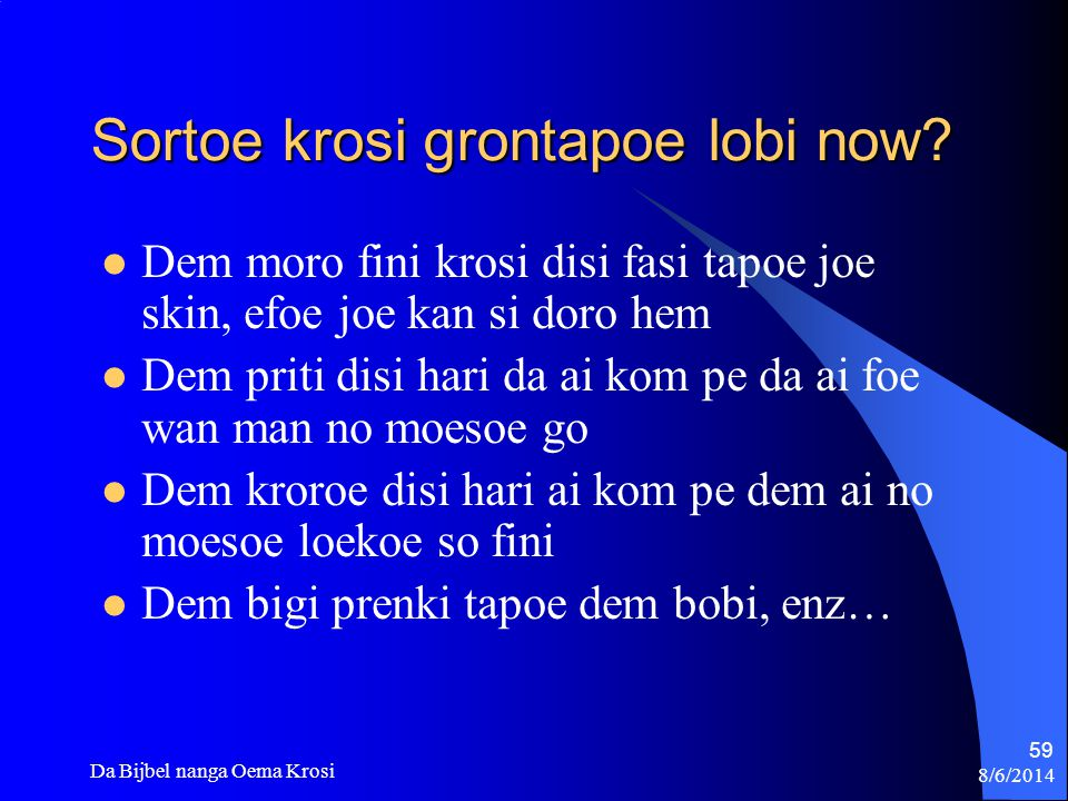 Sortoe krosi grontapoe lobi now