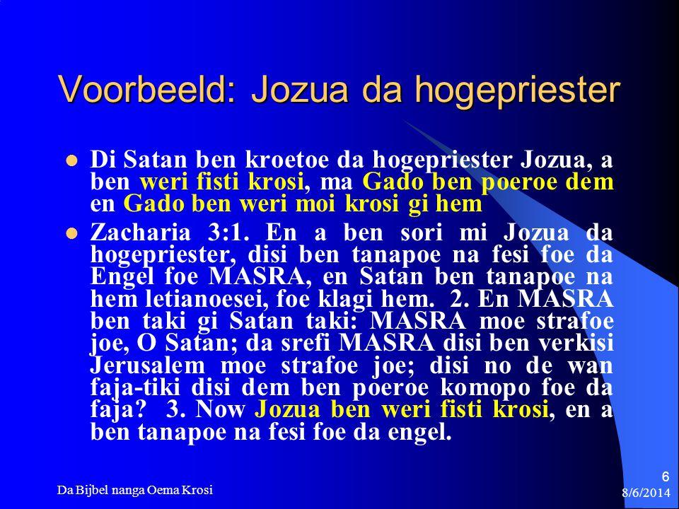 Voorbeeld: Jozua da hogepriester
