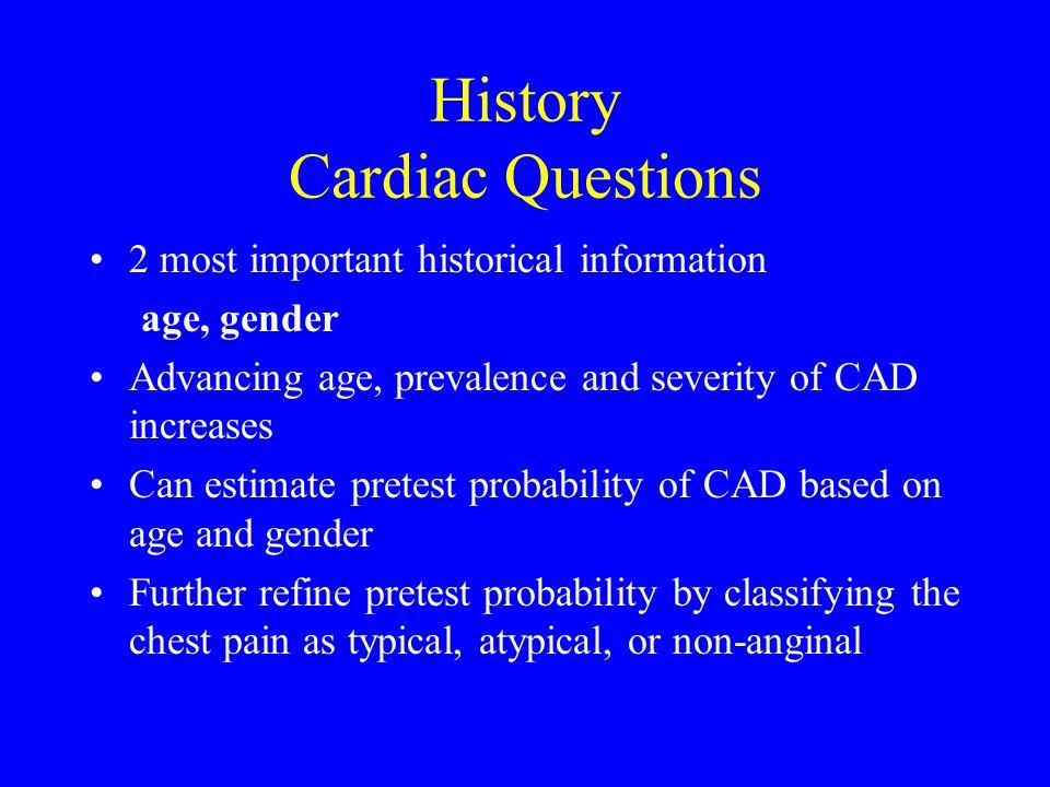 History Cardiac Questions