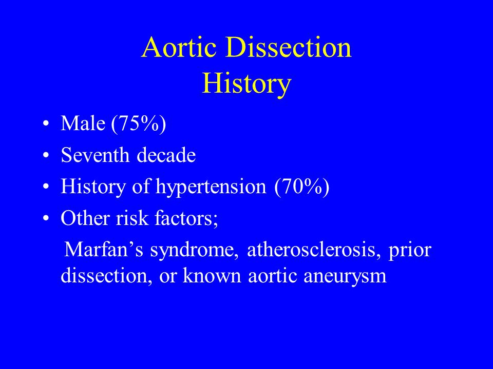 Aortic Dissection History
