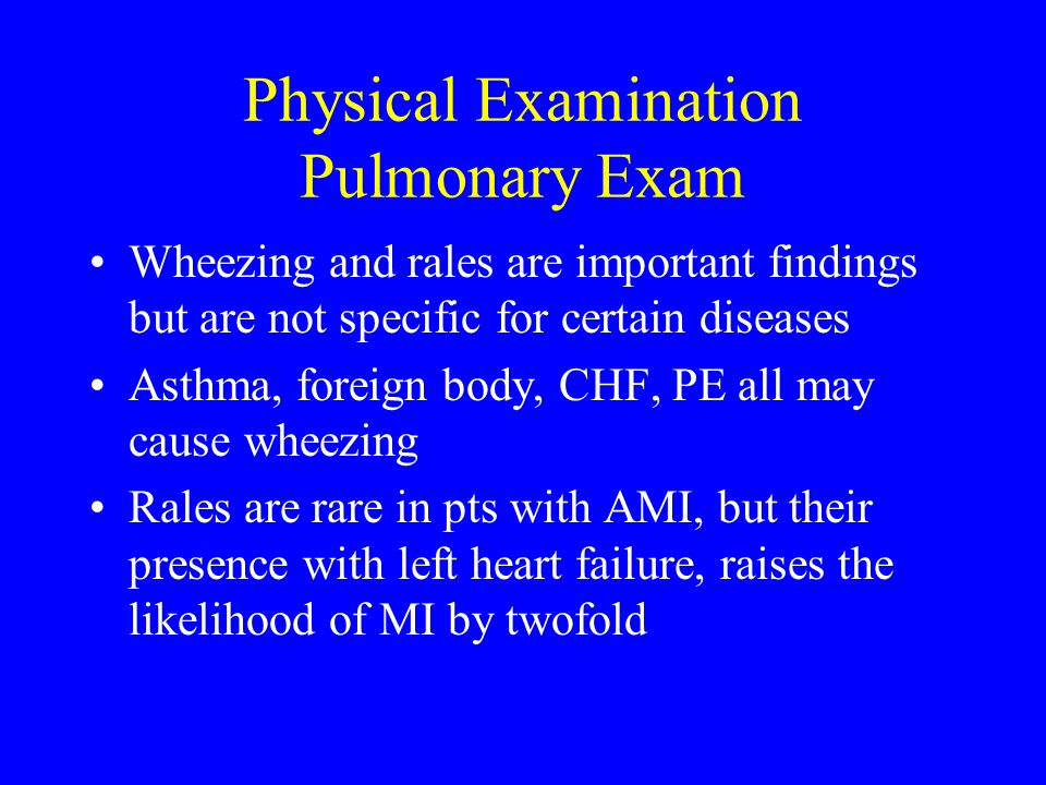 Physical Examination Pulmonary Exam