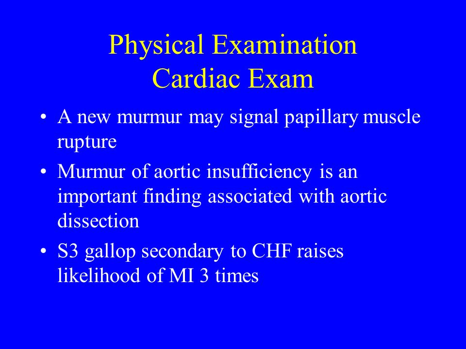 Physical Examination Cardiac Exam
