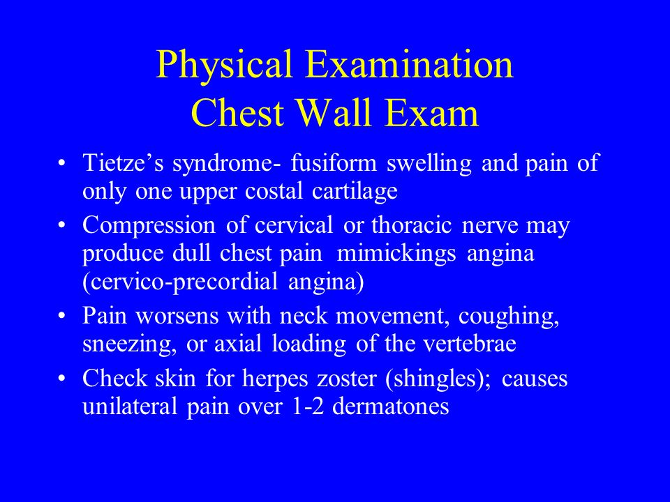 Physical Examination Chest Wall Exam