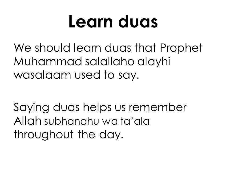 Learn duas