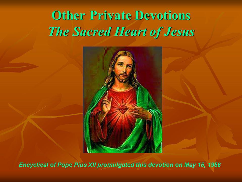 Other Private Devotions The Sacred Heart of Jesus