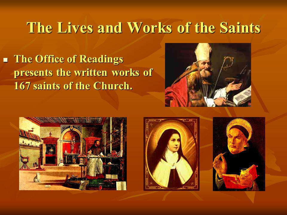 The Lives and Works of the Saints