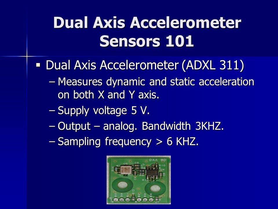 Dual Axis Accelerometer Sensors 101