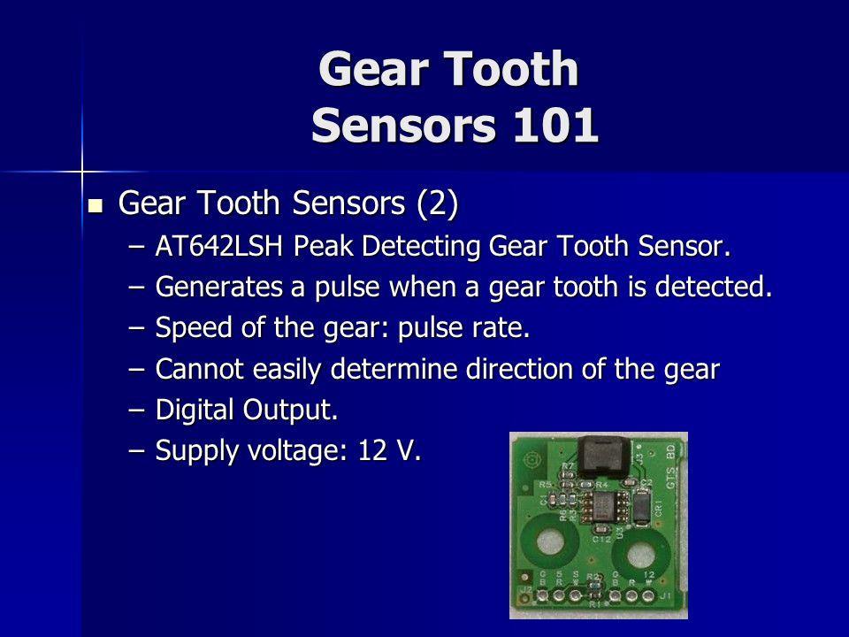 Gear Tooth Sensors 101 Gear Tooth Sensors (2)