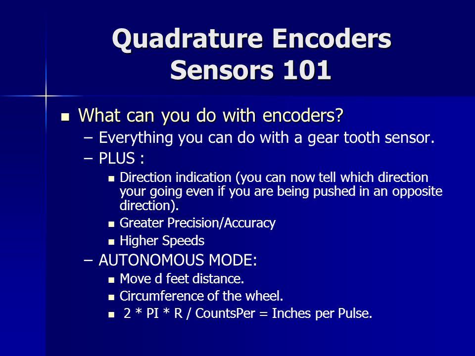 Quadrature Encoders Sensors 101
