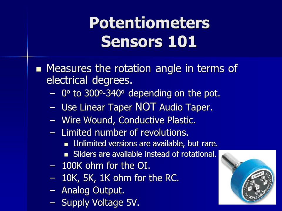 Potentiometers Sensors 101