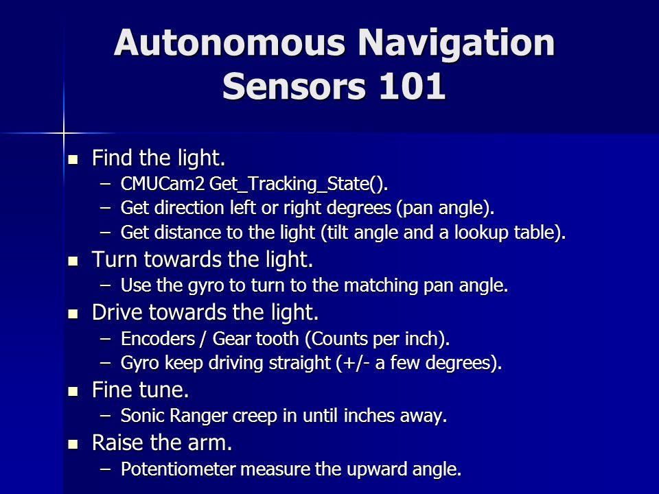 Autonomous Navigation Sensors 101