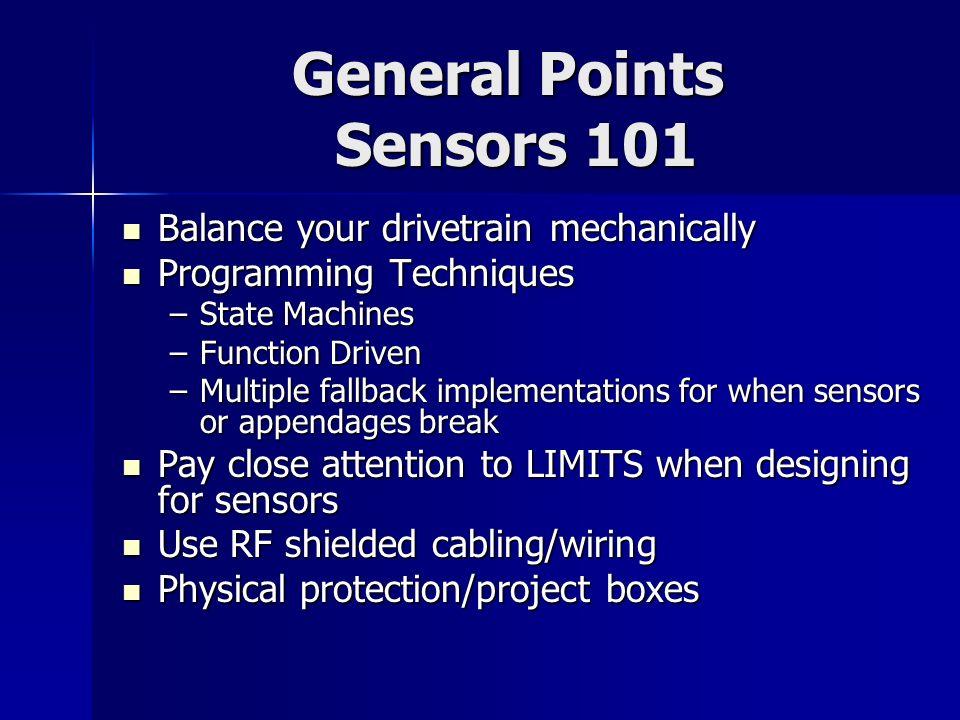 General Points Sensors 101