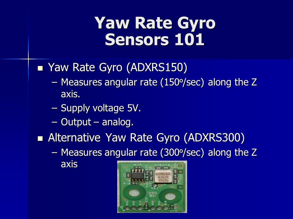Yaw Rate Gyro Sensors 101 Yaw Rate Gyro (ADXRS150)