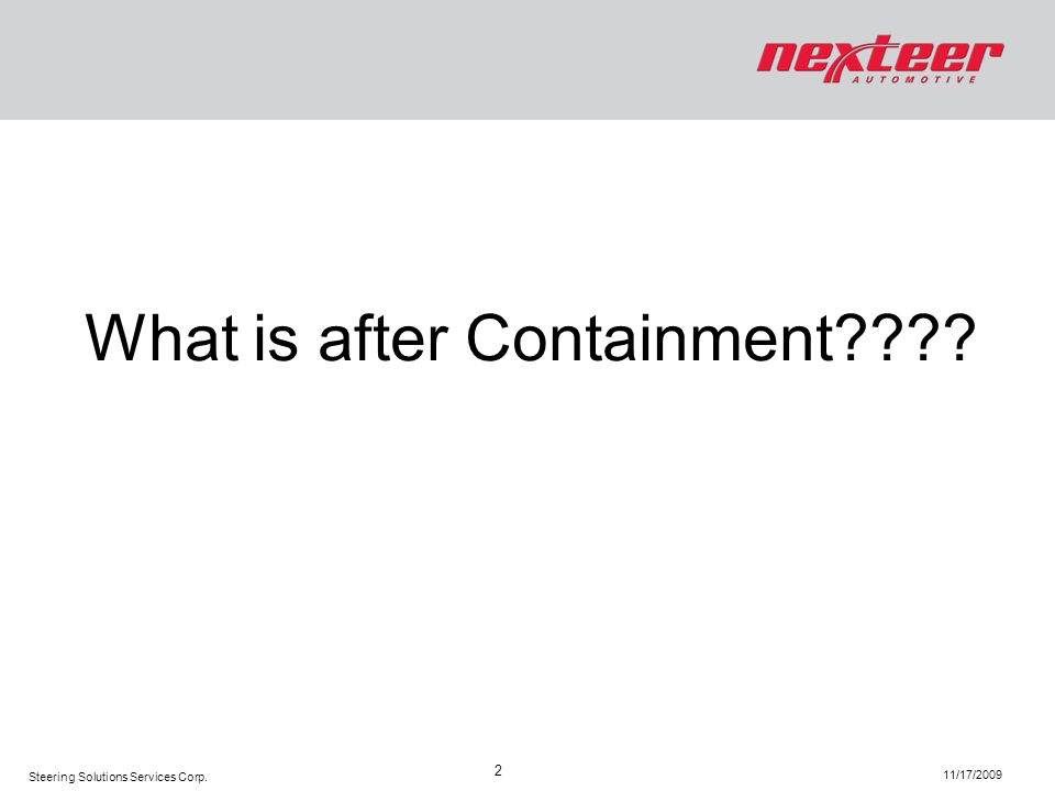 What is after Containment